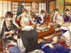 Mitsuhide, what did you put in Masa's drink Handsome Anime Guys, Hot Anime Guys, Anime Love, Anime Girls, Manga Anime, Anime Art, Manga Boy, Sengoku Basara, City Logo