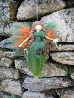 LYNN Needle Felted Wool fairy, via Etsy.