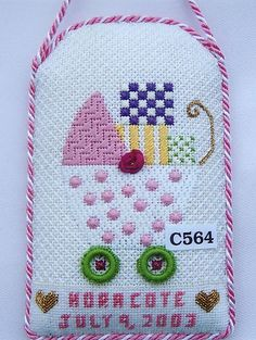 C564 - Girl's Pram needlepoint ornament, Princess & Me design