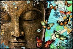 Buddha and butterflies