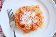 ridiculously easy bruschetta spaghetti squash- seriously. It only takes 3 ingredients.