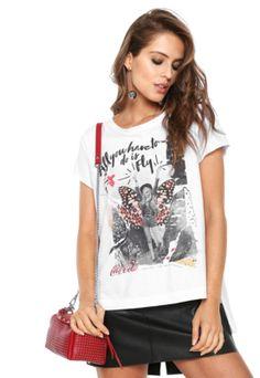 Camiseta Coca-Cola Jeans Love Branca 1e3da81d36790