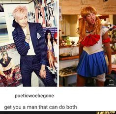 Namjoon That Sailor Moon cosplay tho