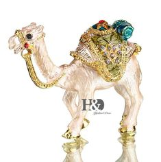 YUFENG Mini Figurine Trinket Boxes Ornament Crystals,Hand-painted Patterns Jewelry Trinket Box Hinged Collectible Ring Display Holders for Women or Girl (camel trinket box) Jewelry Box Hinges, Crystals In The Home, Painting Patterns, Jewelry Patterns, Jewellery Storage, Glass Ornaments, Gift For Lover, Trinket Boxes, Best Gifts