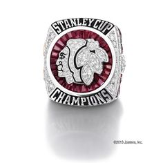 """""""Chicago Blackhawks I would love to have this ring. Chicago Girls, Nhl Chicago, Blackhawks Hockey, Chicago Blackhawks, Sports Team Logos, Sports Teams, 2015 Stanley Cup, Super Bowl Rings, Championship Rings"""