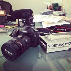 @nanpalmero The @rodemicrophones VideoMic Pro arrived for the 7D. Just in time for the Fortune Conference!