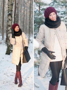 С чем носить бордовые сапоги фото на lookagram.ru