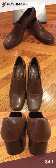 Franco Sarto brown career shoes Randy Cog. Suited Cognac. Size 9M. Worn twice. Beautiful style and ready for career and play. 2 inch heels. Franco Sarto Shoes Heels