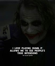 savage quotes 23 Joker quotes that will make you love him more (notitle) Joker Qoutes, Joker Frases, Best Joker Quotes, Badass Quotes, Dark Quotes, Wisdom Quotes, True Quotes, Funny Quotes, Strong Quotes