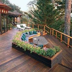 A patio with a fire pit is a great gathering space for guests. Find a house plan with an outdoor living space here http://www.dongardner.com/House_Plans_with_Outdoor_Living_Spaces.aspx. #OutdoorLiving #Patio #HomeDesign