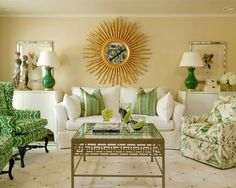 Superieur 25 Living Rooms That Unleash The Refreshing Charm Of Green