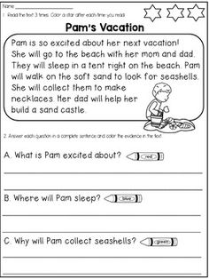 First Grade Reading Comprehension Passages and Questions MEGA BUNDLE ...