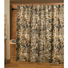 Grand River Lodge Camo Shower Curtains at Cabelas - in Realtree or Realtree AP Camo Curtains, Shower Curtains, Camo Bathroom, Camo Furniture, River Lodge, Country Lifestyle, Man Room, Moving House, Country Girls
