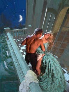 A Duke of Her Own stepback  Artist: James Griffin  Models: Christine Donlon and Paul Marron.
