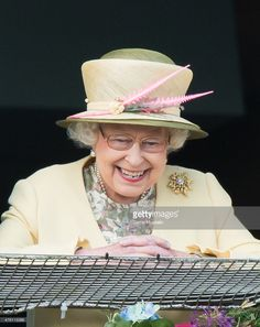 Queen Elizabeth II attends the Epsom Derby at Epsom Racecourse on June 6, 2015 in Epsom, England.