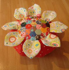 Free Pincushion Patterns | Pincushion with tiny hand stitched patchwork. | Flickr - Photo Sharing ...