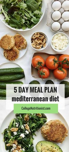 Clean Eating Diet Trying out the healthiest diet in the world doesn't have to be time-consuming or expensive! This plan was easy, simple, and delicious! 5 Day Meal Plan, Detox Meal Plan, Diet Meal Plans, Meal Prep, Mederteranian Diet, Med Diet, Ketogenic Diet, Diet Coke, Pcos Diet