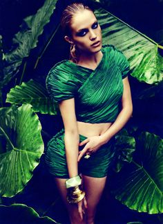 Dana Drori by Richard Ramos for Woman Magazine Spain (May 2012) Editorial: La Selva Esmeralda