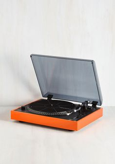 LP Still My Heart Turntable. If old school jams make your heart palpitate, youll for sure feel a flutter when you set a vinyl spinning under the pin of this orange record player. Neon Cactus, Dorm Accessories, Media Furniture, Teen Decor, How To Make Jam, Cool Technology, Record Player, Dorm Decorations, Modcloth