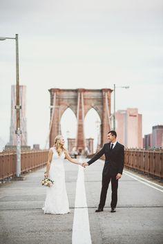 Photography: Julie Pepin Photography - www.juliepepin.com/blog/ Wedding Dress: David's Bridal - www.davidsbridal.com/   Read More on SMP: http://www.stylemepretty.com/2015/02/17/romantic-new-york-city-elopement/