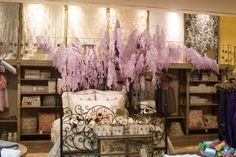 paper wisteria tree | spring 2009 | interior display at the Newport Beach Anthropologie by Ruthi Auda