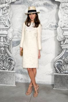 Caroline sieber in white valentino dress