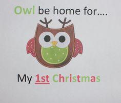 Owl 1st Christmas onesie by PolkaDautz on Etsy, $16.00