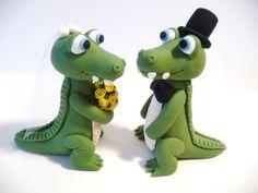Alligator Crocodile Wedding Cake Topper Choose by topofthecake