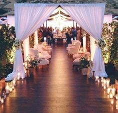Entry to outdoor reception