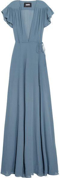 Reformation - Georgette Wrap Maxi Dress - Dark gray https://api.shopstyle.com/action/apiVisitRetailer?id=608114946&pid=uid8721-33958689-52