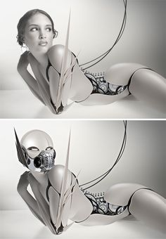 See more 'Robot Fetishism / ASFR' images on Know Your Meme! Types Of Robots, Cyborg Girl, Cyberpunk Girl, Robot Girl, Photoshop Tutorial, Photoshop Ideas, Art And Technology, Retro Futurism, Girl Cartoon
