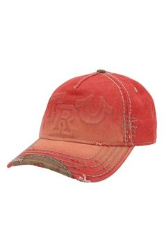 Free shipping and returns on True Religion Brand Jeans 'Raised Logo' Baseball Cap at Nordstrom.com. A raised, stitch-outlined logo brands a baseball cap that has been faded and distressed along the edges for a vintage look. Leather trims the brim and shapes the adjustable back strap.