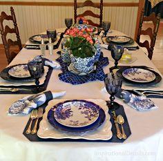 cobalt blue table