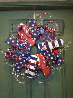 fourth of july flip flop wreath - Google Search