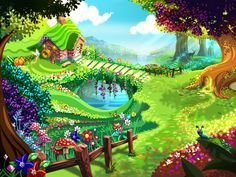 free graphics   cartoon  farmers garden   | Fairy garden by shkshk7 on DeviantArt