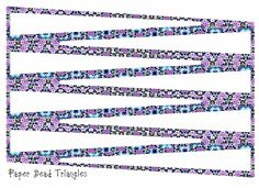 ArtbyJean - Paper Crafts: Make your own paper beads with printed Bead Triangles