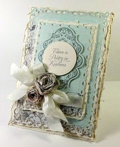an extremely elegant card using Kindness designed by Linda Duke