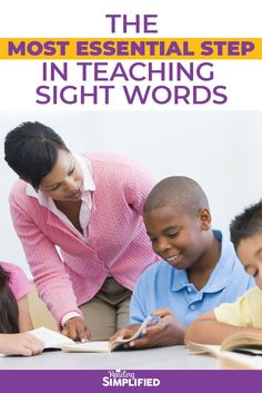 Here is the 1st–and most essential–step in teaching sight words. Discover how the right first step can make or break many readers achievement! Just 1 simple check can ensure ALL of your students learn sight words well and more rapidly. I also included 3 resources to help! #readingsimplified #readingdifficulties #elementaryteacher #teachtoread #readingstrategies #teachingsightwords