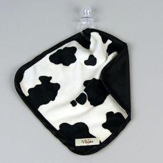 All Diaper Cakes - My Blankee Cow Print Binky Blanket, $26.00 (http://alldiapercakes.com/my-blankee-cow-print-binky-blanket/)