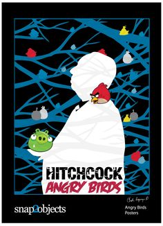 Angry birds alfred hitchcock and birds on pinterest