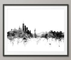 New York Skyline NYC Cityscape Art Print 1432 by artPause on Etsy