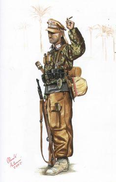 NCO of Division Hermann Göring - Tunisia 1943.