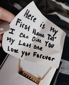 Here's my first name til I can give you my last one forever necklace relations. goals cute Here's my first name til I can give you my last one forever necklace relations. Couple Goals Relationships, Relationship Goals Pictures, Relationship Gifts, Relationship Videos, Relationship Drawings, Communication Relationship, Relationship Challenge, Relationship Problems, Healthy Relationships