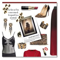 """Leopard love"" by ekaterina-uglyanitsa ❤ liked on Polyvore featuring Morgan Lane, Christian Louboutin, Aspinal of London, Roberto Cavalli, Roland Mouret, Maje, Chico's, Bobbi Brown Cosmetics, NYFW and leopard"