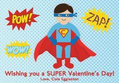 Superhero Valentine's Day Card