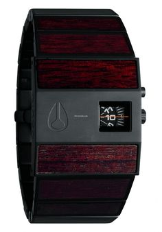 Nixon presents the aptly titled Dark Wood & Black collection for Spring consisting of accessories and eight different watches finished in tasteful yet Cool Watches, Watches For Men, Nixon Watches, Wrist Watches, Casual Watches, Wooden Watch, Black Men, Black Dark, Mens Fashion
