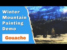 The gouache painting sketch is a fun way to test out ideas. Also to relax and have fun with painting journal. This quick demonstration shows you how to build. Painting Courses, Painting Lessons, Winter Mountain, Mountain Paintings, Gouache Painting, Artist At Work, Art Tutorials, Creative Art, Have Fun