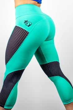 BootyQueen Crop Mint Chocolate Chip Limited Edition Legging