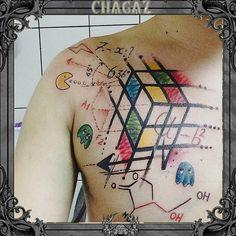 #pacman #ink #wattertattoo #chagaz #cub