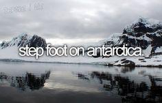 step foot on antarctica.